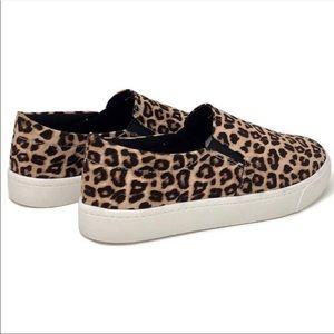 Soda Shoes - Leopard Print Slip On Sneakers